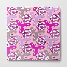Geometric Mozaik (pink) Metal Print