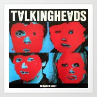 talking heads Art Prints featuring Talking Heads - Remain in Light by NICEALB