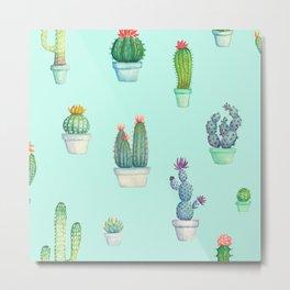 Cactus Practice Metal Print