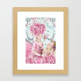 Marie Antoinette Wallflower Framed Art Print