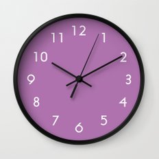 Radiant Orchid Wall Clock