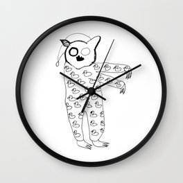 pijama bear Wall Clock