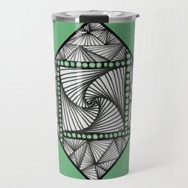 Paradox Tile on Green Travel Mug