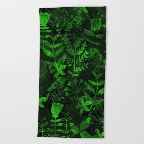 Abstract Botanical Garden IV Beach Towel