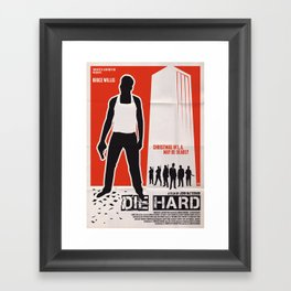 DIE HARD Framed Art Print