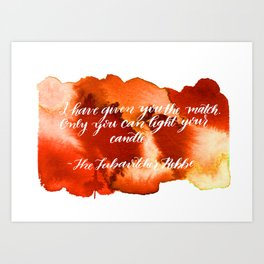 Rebbe Chanukah Quote Art Print