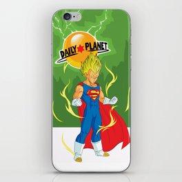 SUPER VEGETA / DAILY PLANET iPhone Skin