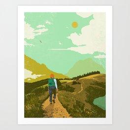 WARM TRAILS Art Print