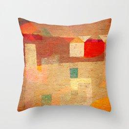 Casitas en España Throw Pillow