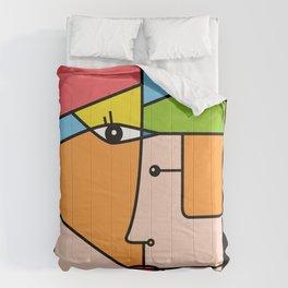 Rostros abstractos Comforters