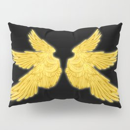 Golden Archangel Wings Pillow Sham