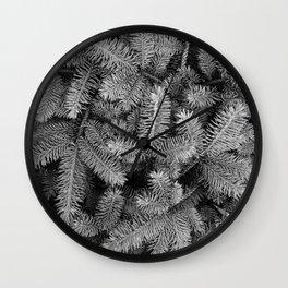Holiday Pine Wall Clock