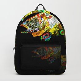FATHER  LIKES FISH AND BOURBON POP ART Backpack