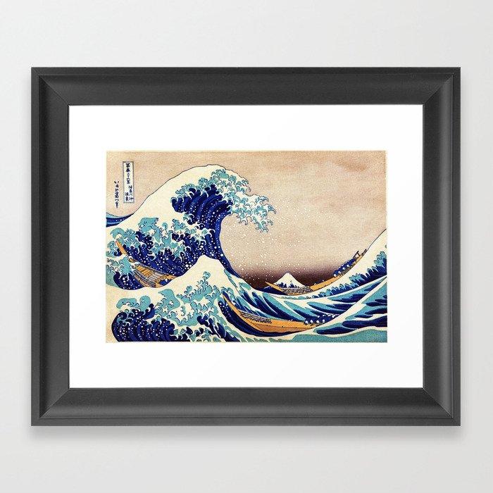 The Great Wave Off Kanagawa Gerahmter Kunstdruck