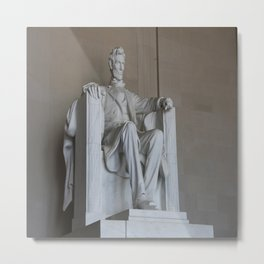 President Lincoln Statue - Washington DC Metal Print