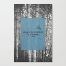 ee cummings - songbirds. Canvas Print