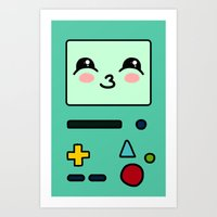 bmo Art Prints featuring BMO by Janice Wong