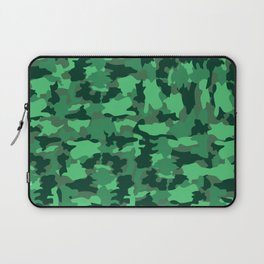 Green Army Camo Pattern Background Laptop Sleeve