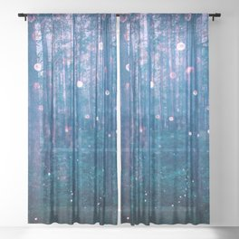 Fairy Lights Sheer Curtain