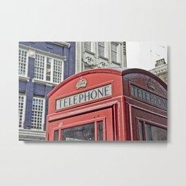 red telephone box Metal Print