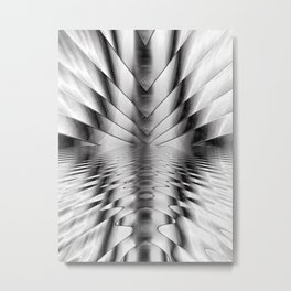 Liquid Steel Metal Print