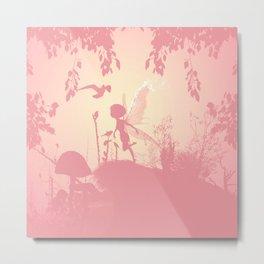 Fairy silhouette Metal Print