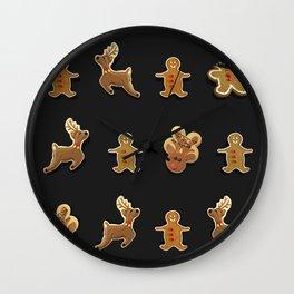 Ginger Bread Man Reinders Rudolf Cookies Chocolates Box Wall Clock