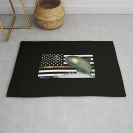 Trout: Thin Line Flag Rug