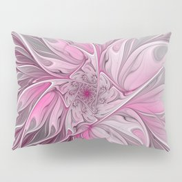 Abstract Pink Floral Dream Pillow Sham