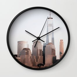 New York City Skyline World Trade Center Wall Clock