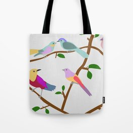 Birds on a tree Tote Bag