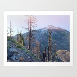 sunrise over mt. jefferson Art Print