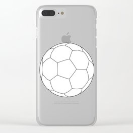 Soccer Ball Over White Clear iPhone Case
