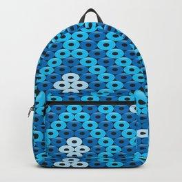 Mexican Blue Huichol Art Backpack