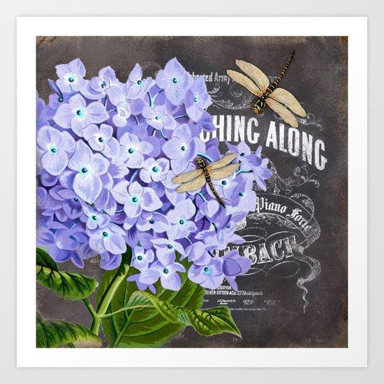 Vintage Flowers #4 Art Print