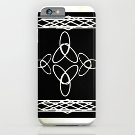 Celtic Deco Black and White iPhone Case