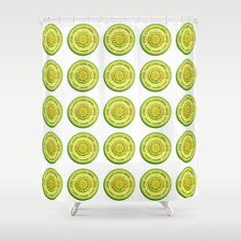 Lime and Lemon Slices VEGAN typography Shower Curtain