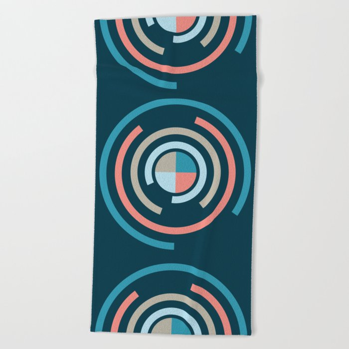 Colorful Circles V Beach Towel