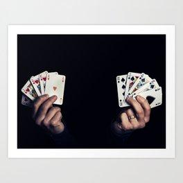 hearts vs spades Art Print