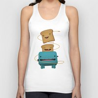 good morning Tank Tops featuring Good Morning by mrbiscuit