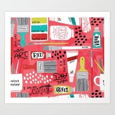 Love to Make Art! Art Print