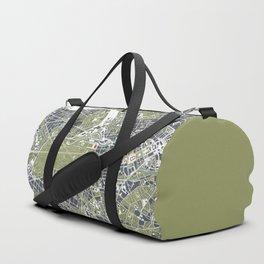 Berlin city map engraving Duffle Bag