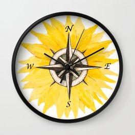 Compass  Sunflower Wall Clock
