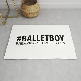 Ballet Boy - Breaking Stereotypes Rug