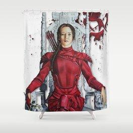 "Katniss Everdeen Mockingjay Part 2 ""I Kill Snow""   Drawing Shower Curtain"