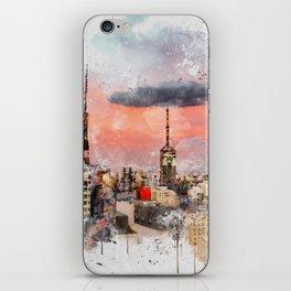 Sao Paulo - WaterColor 003B iPhone Skin