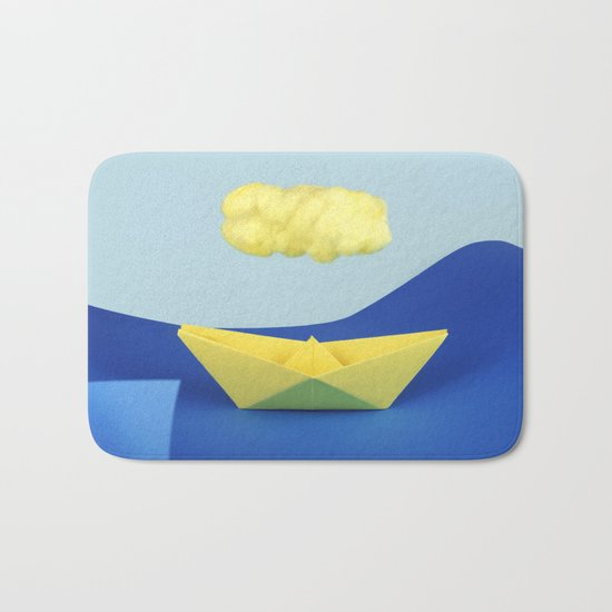 The yellow cloud over the yellow ship Bath Mat