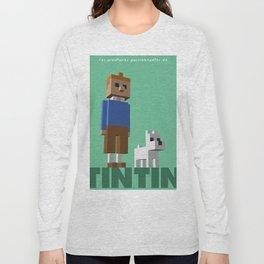 Tintin voxel tribute Long Sleeve T-shirt