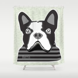 borris the french bulldog Shower Curtain
