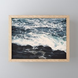 Stones in the Beach Framed Mini Art Print
